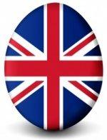 An egg-shaped Union Jack.