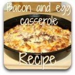 Deliciously decadent bacon, egg and cheese casserole recipe.