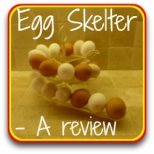 The egg skelter - a fun way of storing your eggs!