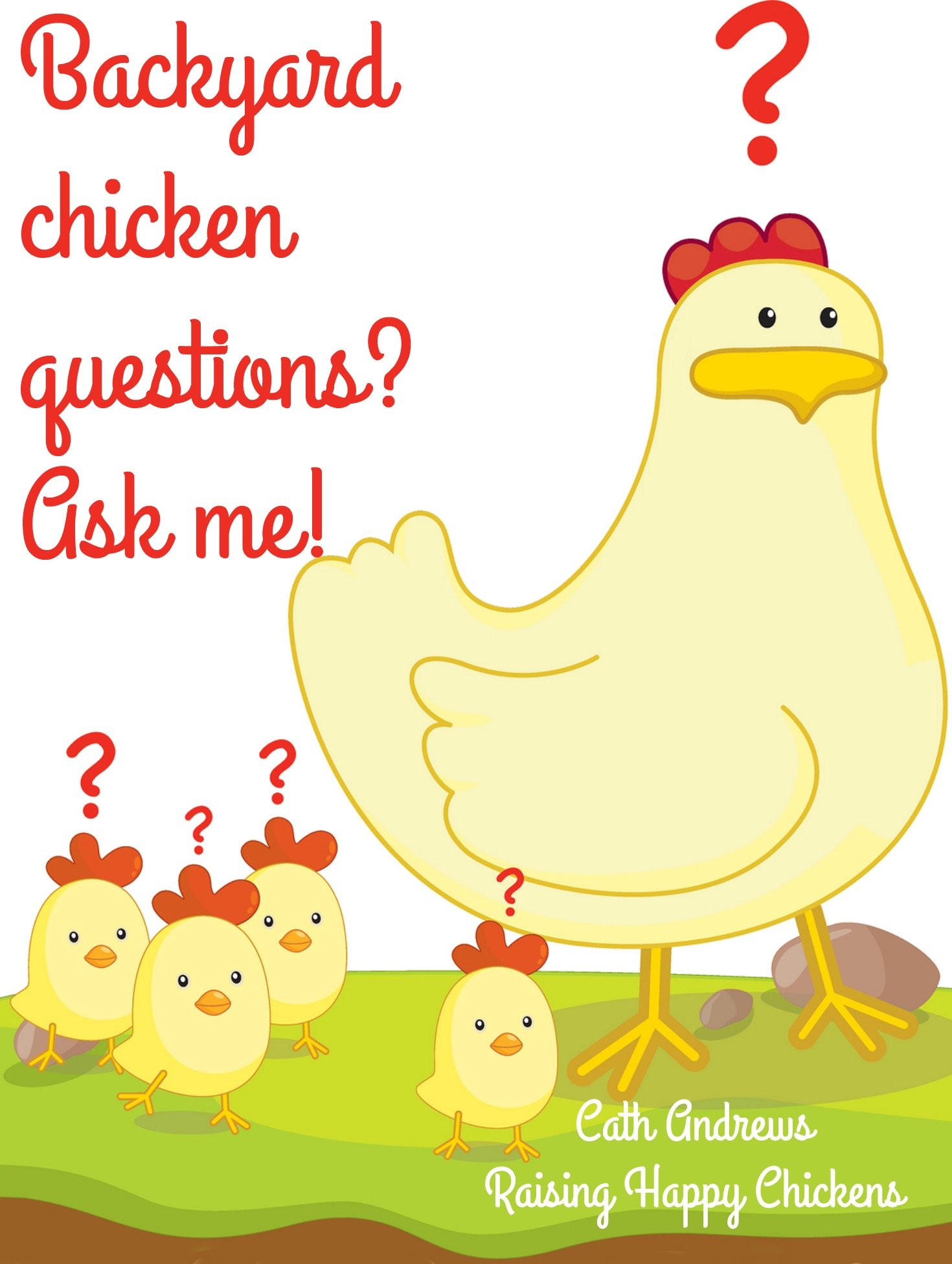Hen with chicks ask questions.