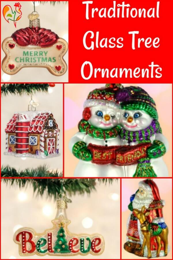 Old World glass ornaments to add a sparkle to Christmas! Pin for later.
