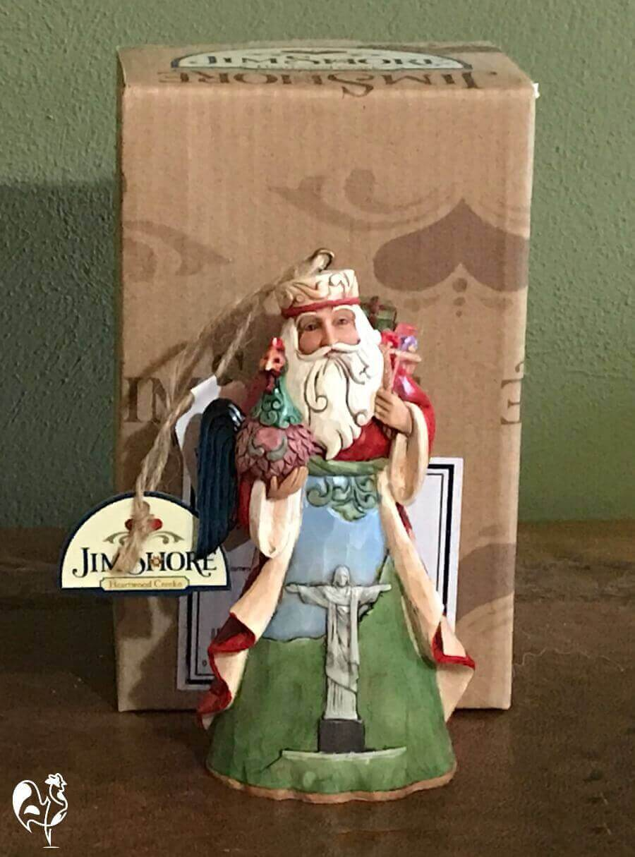 Jim Shore's Brazilian Santa tree decoration - with rooster!