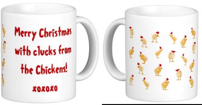 Christmas coffee mug for chicken lovers!