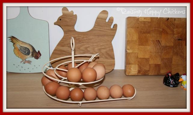 the egg skelter, full of eggs.