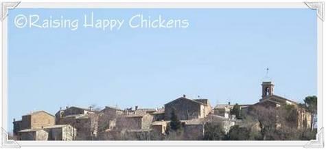 Our Italian hilltop village.