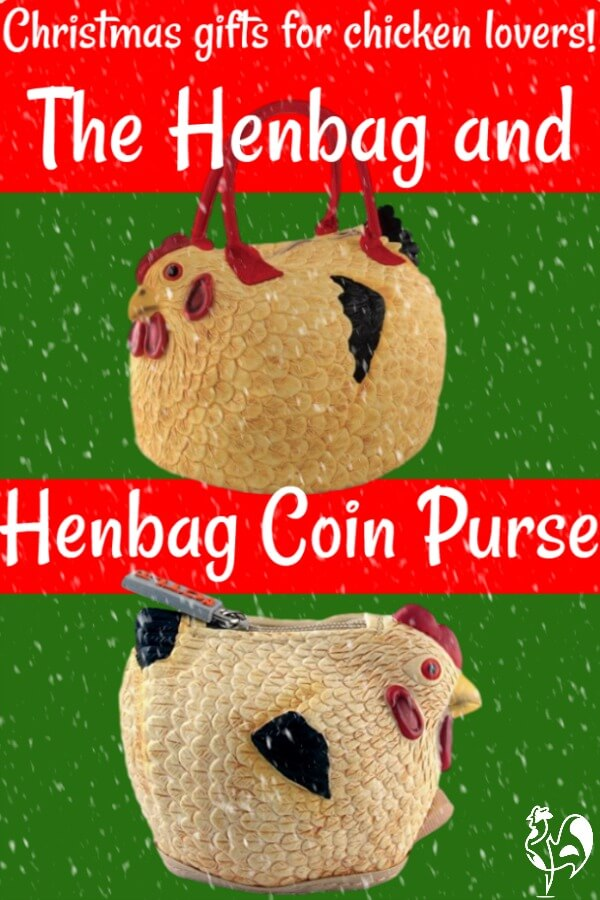The henbag and henbag coin purse make a fun, inexpensive gift for the backyard chicken keeper. #backyardchickens #christmasgiftideas #backyardchickenlove #henbag #birthdaygiftideas