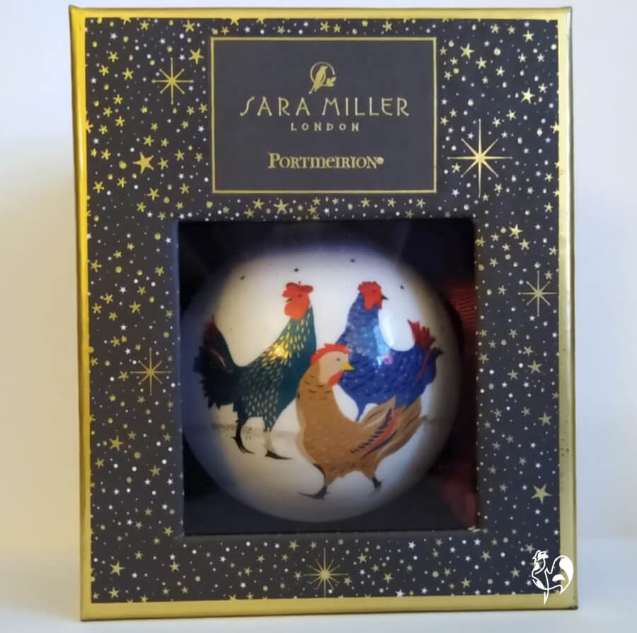 Christmas Tree Ornaments With A Chicken Theme
