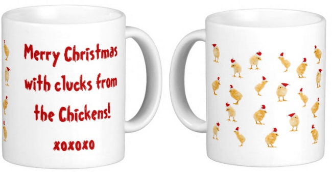 Christmas coffee mug for chicken lovers!