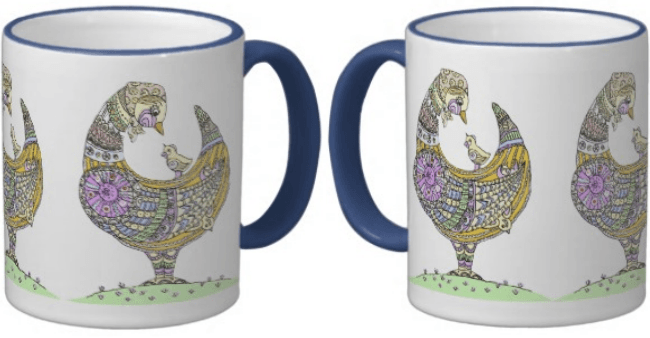 Mother hen ceramic mug - custom it to your own design!