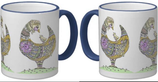 Mother hen ceramic mug - custom it to your own design!