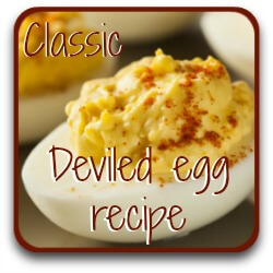 Want a basic deviled eggs recipe? Click here!