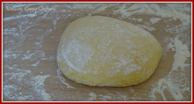 Easter bread dough at the end of stage 1.