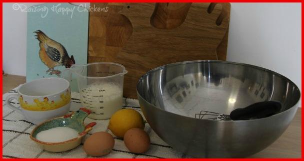 Ingredients for a simple pancake recipe