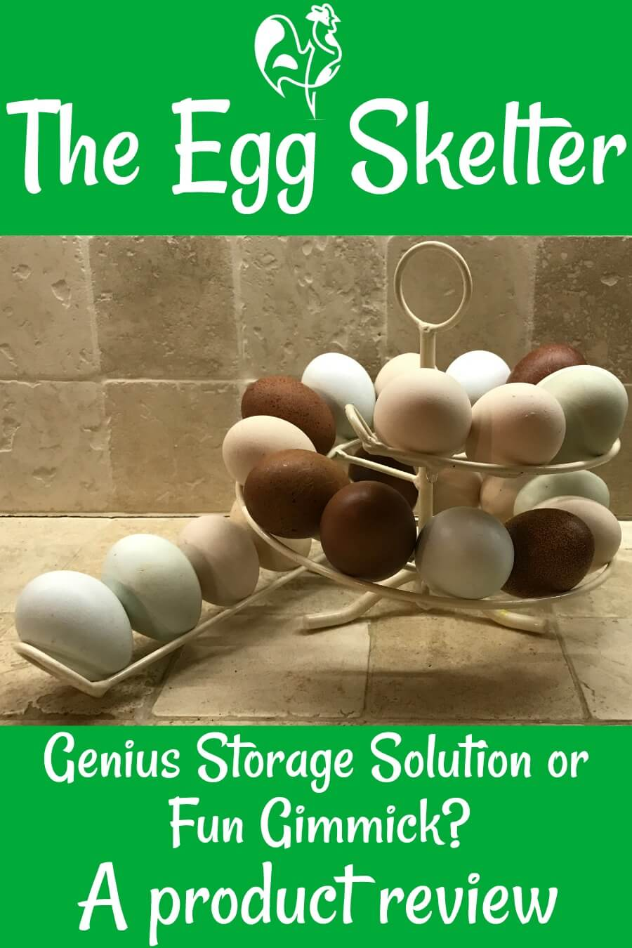The Egg Skelter storage solution - a product review. Pin for later.