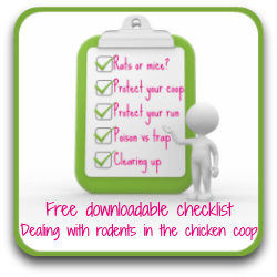 Getting rid of rats - a link to my free checklist.