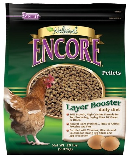 A high protein food booster for chickens from Amazon.