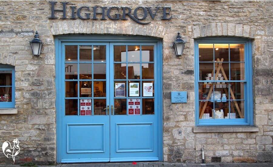 The outside of Highgrove souvenir shop, Tetbury, England.