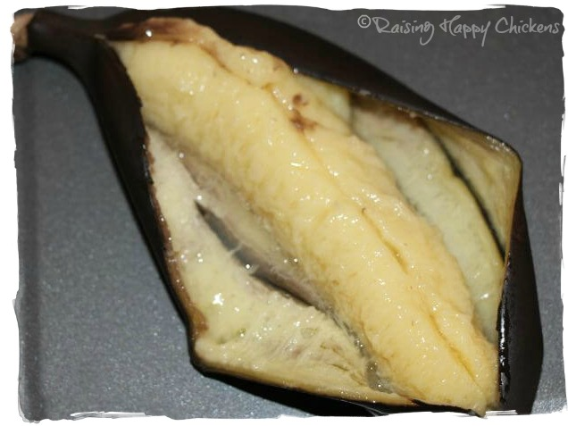 Banana ripened in the oven
