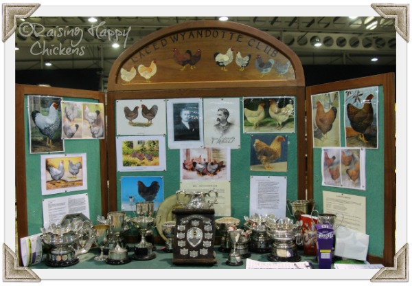 A breed club show stand.