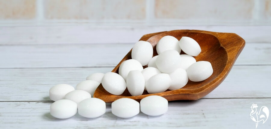 Mothballs - look tasty but are made from Napthalene.