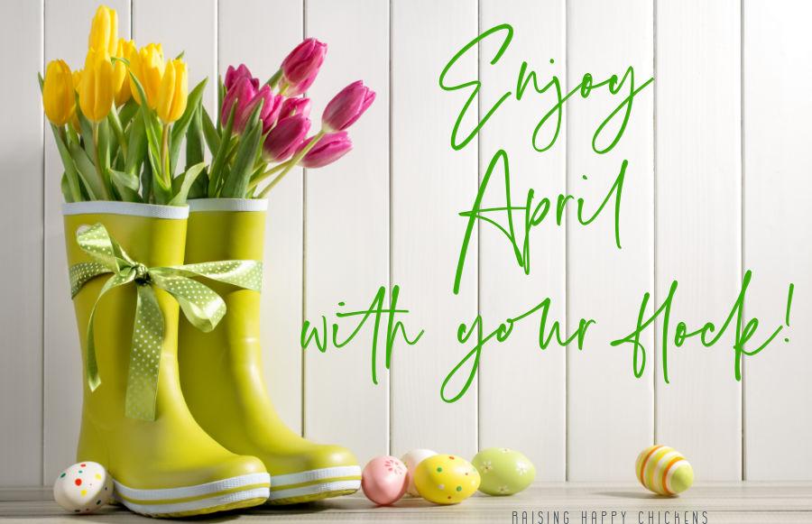 Enjoy your flock in April!