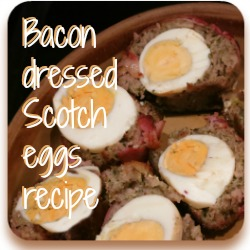 Delicious bacony Scotch eggs - perfect for a winter supper!