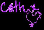 Cath's signature.