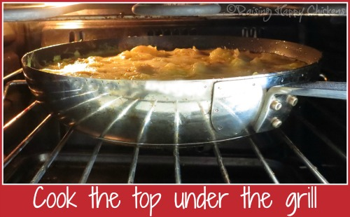 Indier tortilla recipe tip : use grill to cook top