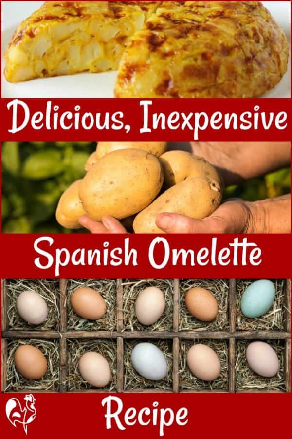 Spanish omelette, also known as Italian potato frittata, recipe - Pin for later.