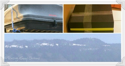 Ice on the car, and the French - Italian Alps