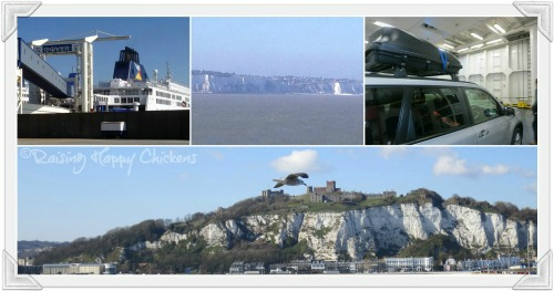 The ferry from Dover to Calais