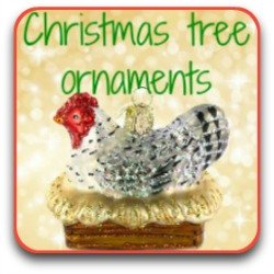 Link to Christmas tree ornaments with a chicken theme!