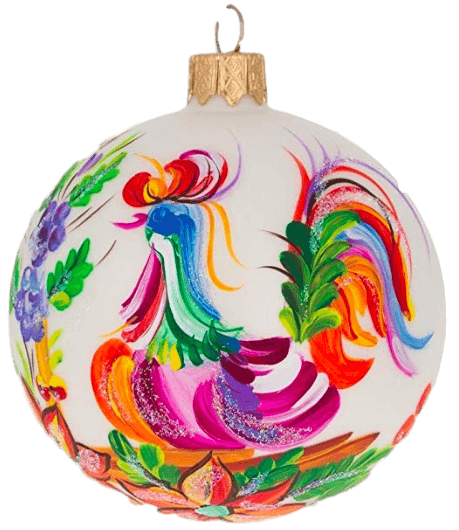 A fun chicken-themed Christmas tree ornament - that blinks! Perfect gift for a chicken-loving child, or a young-at-heart chicken lover - and batteries are included!