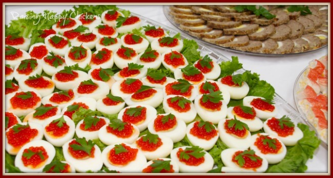 Recipes for that special occasion : deviled eggs with caviar.