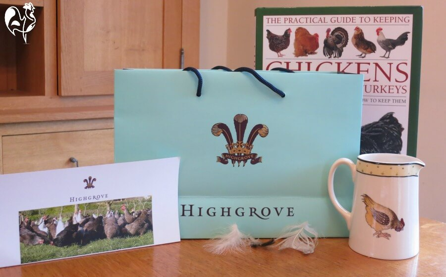 Souvenirs from my Highgrove House chicken courses.