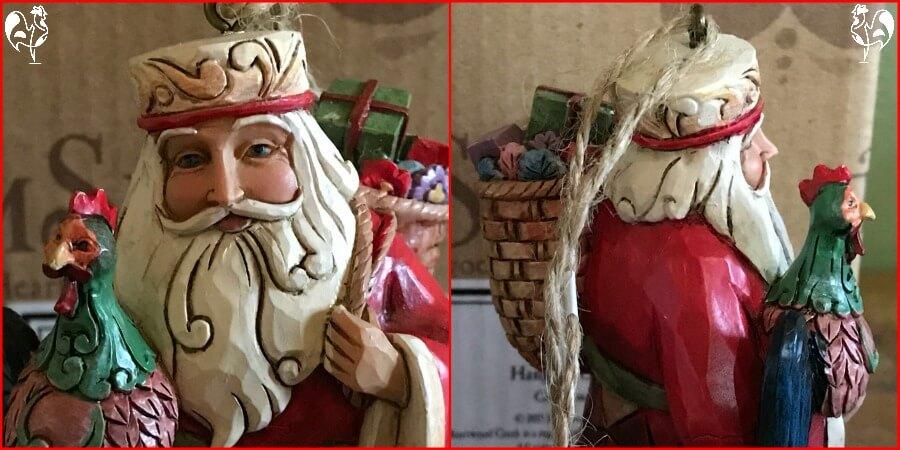 Jim Shore's Santa with roo - close up.