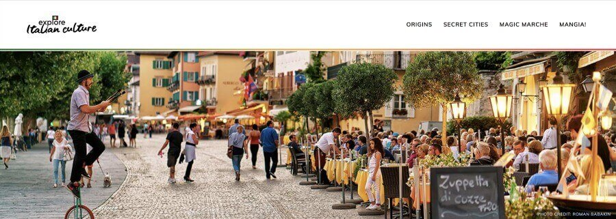 Explore Italian Culture: my Italian site's header.