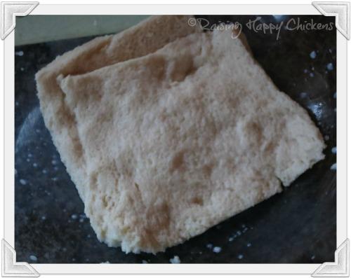 Soak the bread in milk